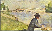 "Georges Seurat Obraz - Seated Man. Study for ""Bathers at Asnieres"" zs18177"