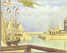Georges Seurat Obraz - Sunday at Port-en-Bessin zs18178