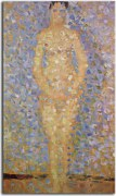 "Georges Seurat Obraz - Poseur standing, front view, study for ""Les poseuses"" zs18179"