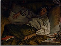 Obraz James Tissot A Reclining Lady zs18188