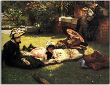 In the Sunshine - Reprodukcia James Tissot  zs18226