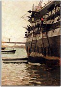 The Hull Of A Battle Ship James Tissot obraz - zs18274
