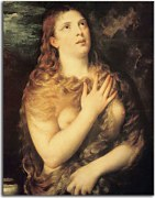 Obrazy Tizian - Mary Magdalen Repentant zs18327