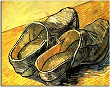 Reprodukcie Vincent van Gogh - A Pair of Leather Clogs zs18372