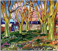 Vincent van Gogh - Avenue of Plane Trees near Arles Station zs18378