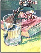 Vincent van Gogh - Blossoming Almond Branch in a Glass with a Book zs18379