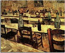 Vincent van Gogh obraz - Interior of a Restaurant in Arles zs18400
