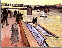 The Bridge at Trinquetaille zs18480 - Reprodukcia Vincent van Gogh