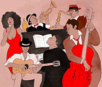 Retro obrazy - Jazz Band zs24249